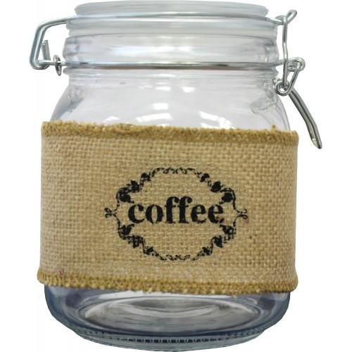 Pojemnik szklany 1l - coffee