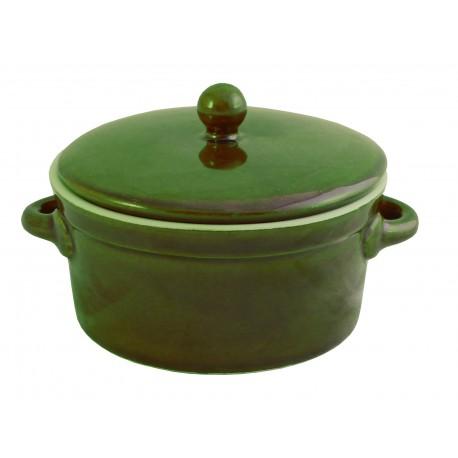Garnek ceramiczny z pokrywką 0,5L zielony