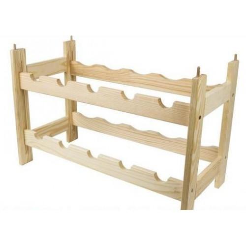 Regał drewniany modułowy na 10 butelek