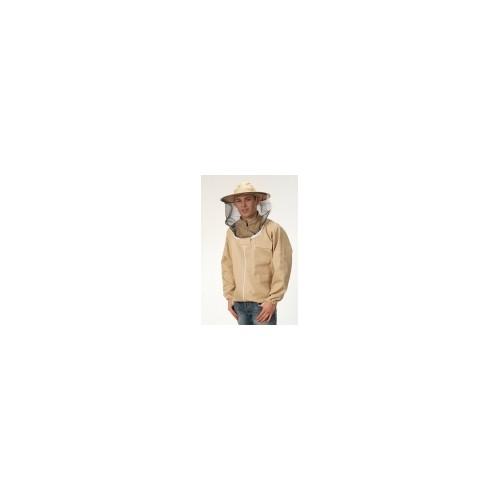 Bluza pszczelarska z kapeluszem rozpinana