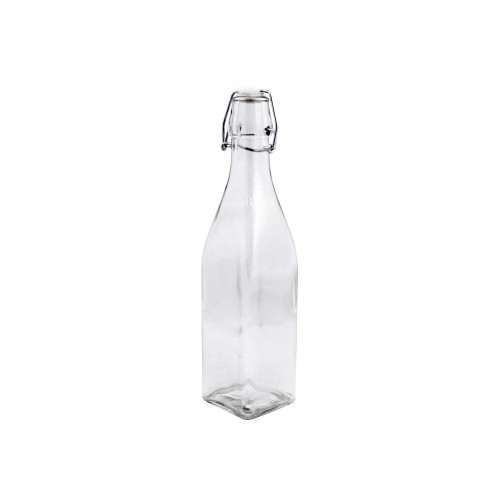 Butelka 500ml. kwadratowa clear