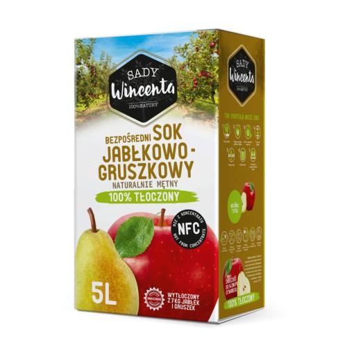 Sok jabłko- gruszka 5l.
