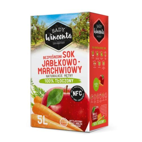 Sok jabłko- marchew 5l.