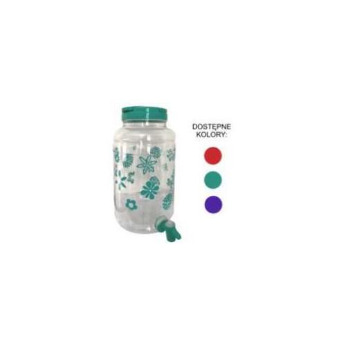 Słoik plastikowy z kranikiem 4,3 l.