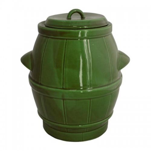 Beczka ceramiczna zielona 5L
